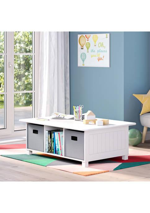 RiverRidge Home Kids 6 Cubby Storage Activity Table