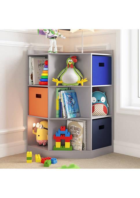 RiverRidge Home Kids 6-Cubby, 3-Shelf Corner Cabinet