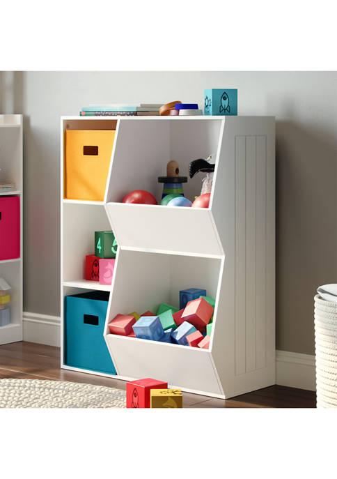 RiverRidge Home Kids 3-Cubby, 2-Veggie Bin Floor Cabinet