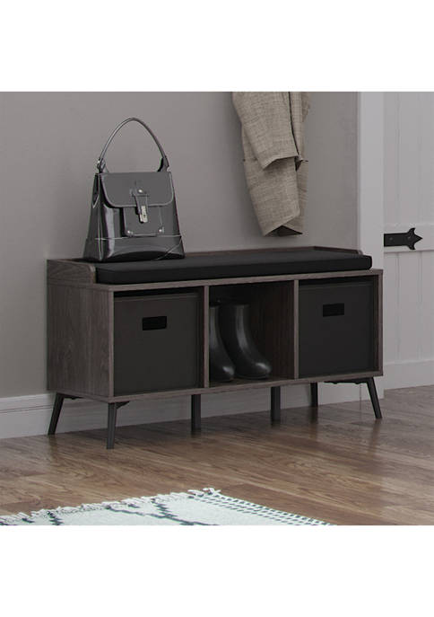 RiverRidge Home Woodbury Storage Bench with Cubbies and
