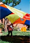 Playchute 10 Foot Parachute - Blue / Orange / Red / Yellow
