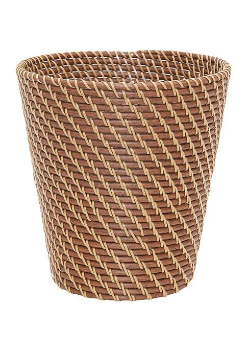 Baum Honey Wicker Waste Basket