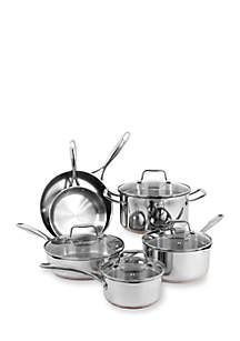 10-Piece Stainless Steel Copper Base Cookware Set