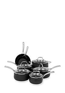 12-Piece Hard Anodized Aluminum Cookware Set