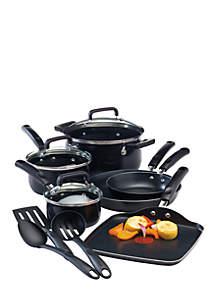 Black Signature Nonstick 12-Piece Cookware Set