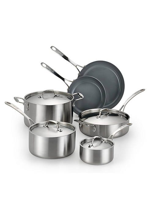 Axia Stainless Ceramic 10-Piece Cookware Set