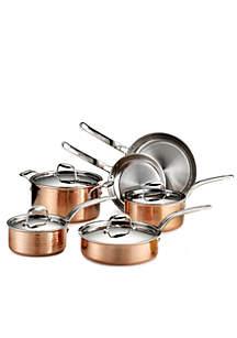 Martellata Copper 10-Piece Cookware Set