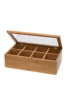 Bamboo 8-Compartment Tea Box