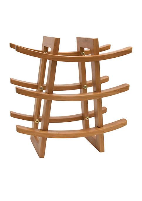 Lipper International Bamboo 9-Bottle Wine Rack