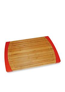 Bamboo & Red Silicone Non-slip Small Cutting Board