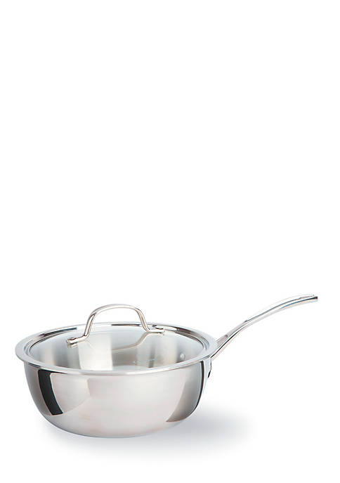 Calphalon® Tri-Ply Stainless Steel 3-qt. Covered Chefs Pan