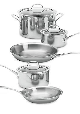 Tri-Ply Stainless Steel 8-Piece Set