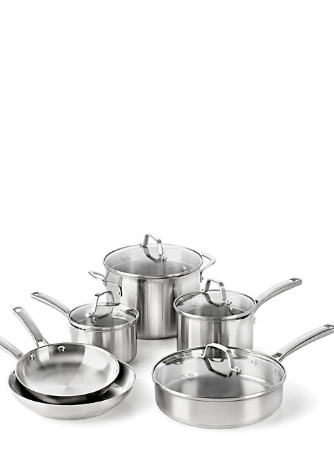 Classic 10-Piece Stainless Steel Cookware Set
