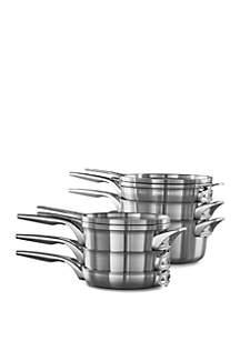 Calphalon® Premier™ Space Saving Stainless Steel 10-Piece Cookware Set