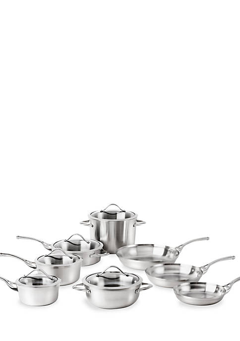Contemporary Stainless 13-Piece Cookware Set
