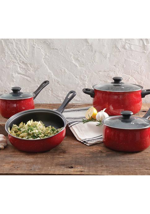Gibson Casselman Red 7-Piece Non-Stick Cookware Set