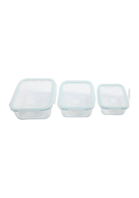Gibson Rectangle Storage Containers with Snap Lids
