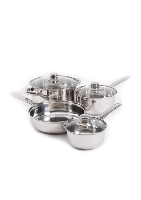 Gibson Landon 7-Piece Stainless Steel Cookware Set