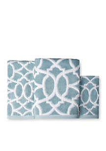 Watercolor Lattice Towel Collection