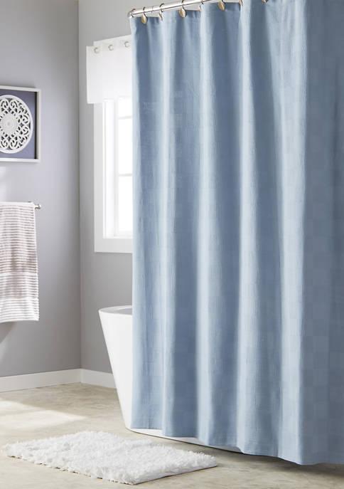 Large Basketweave Shower Curtain