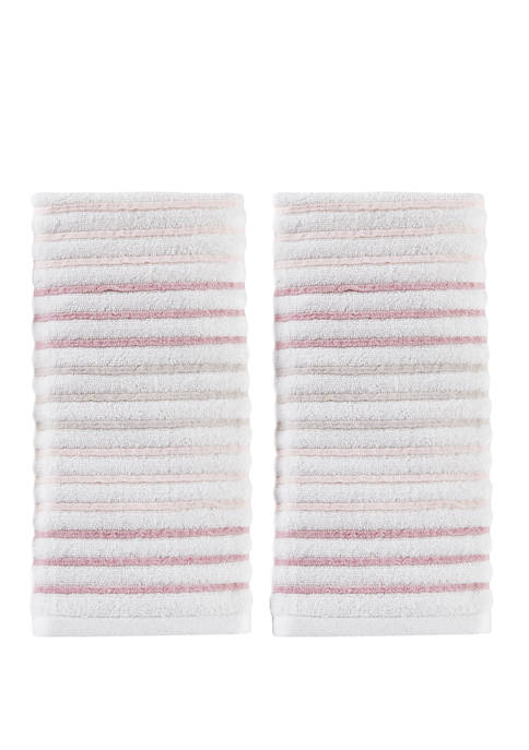Tie Dye Stripe 2 Piece Hand Towel Set