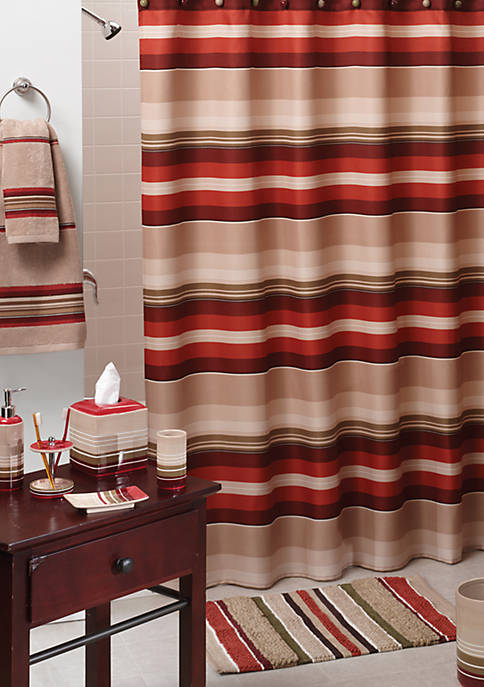 Madison Stripe Red Shower Curtain
