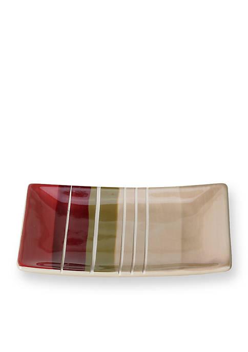 Madison Stripe Red Soap Dish