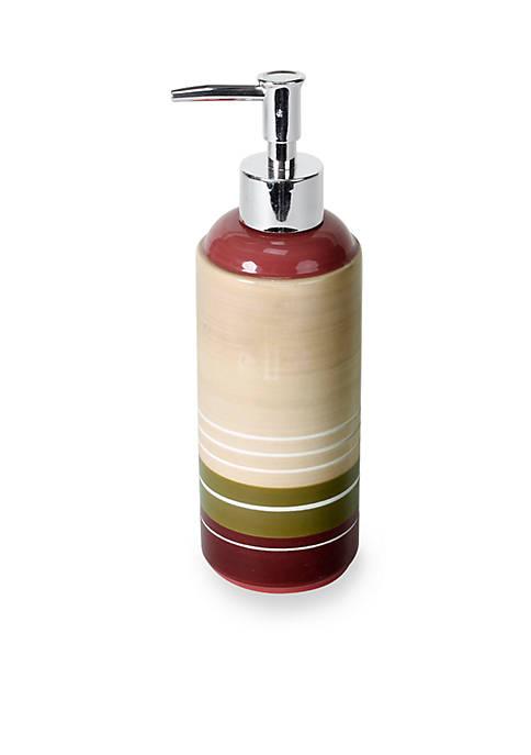 Madison Stripe Red Lotion Dispenser