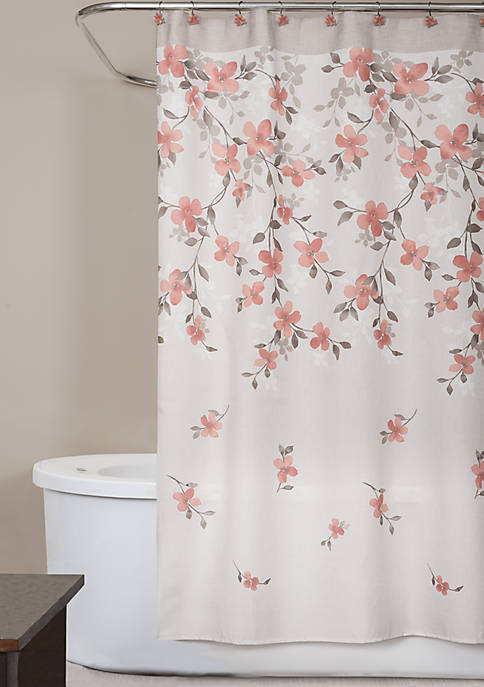 Saturday Knight Coral Garden Shower Curtain 70-in. x