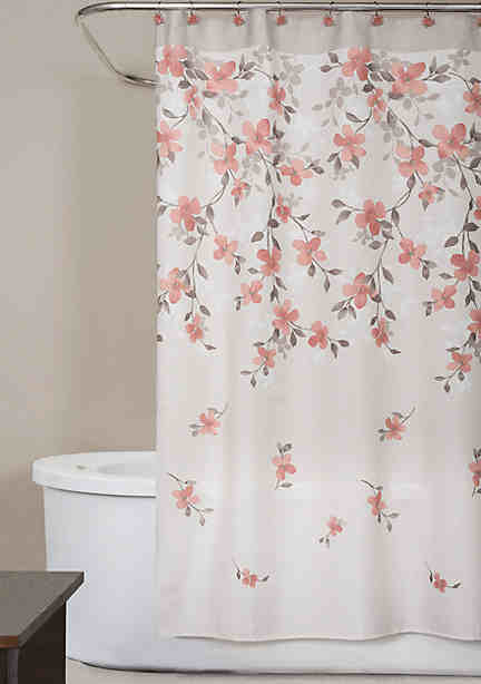 Saturday Knight Coral Garden Shower Curtain 70 In X 72