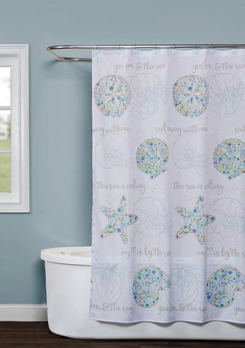 SKL Home Seaside Blossoms Shower Curtain