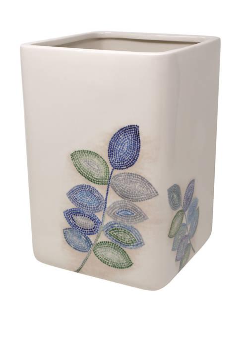 Croscill Mosaic Leaves Wastebasket
