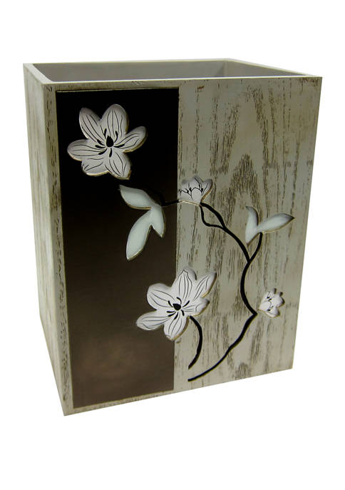 Magnolia Floral Waste Basket