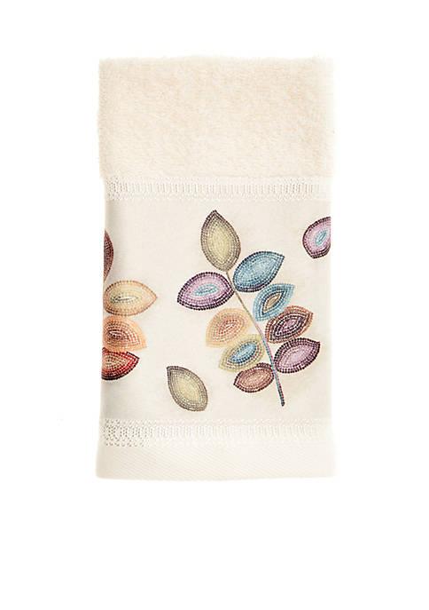 Croscill Mosaic Leaves Fingertip Towel 11 In X 18 Belk