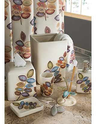 Croscill Mosaic Leaves Bath Accessories Collection Belk
