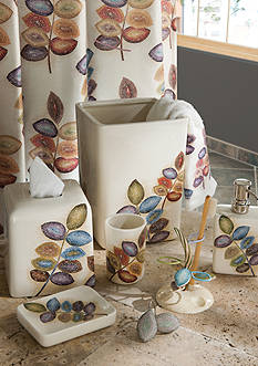 Croscill Mosaic Leaves Bath Accessories Collection