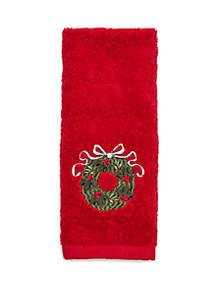 Wreath Fingertip Towel