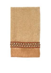 Braided Cuff Rattan Fingertip Towel