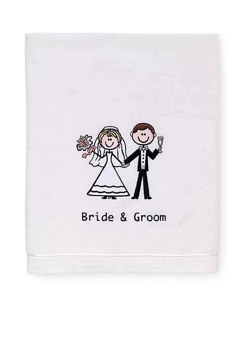Bride & Groom Bath Towel