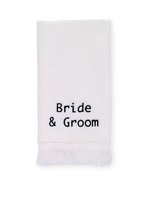 Avanti Bride & Groom Fingertip Towel