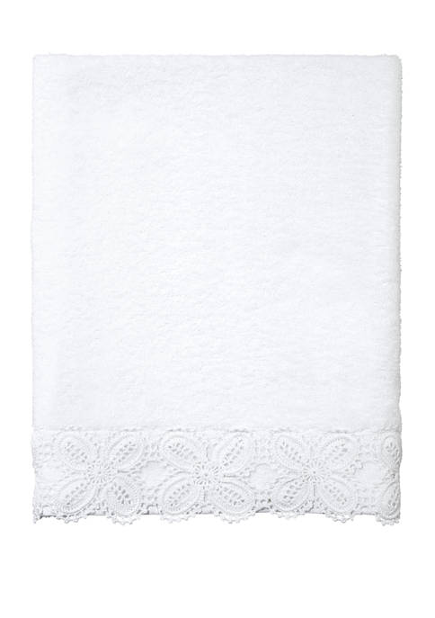 Avanti Crochet Lace Bath Towel