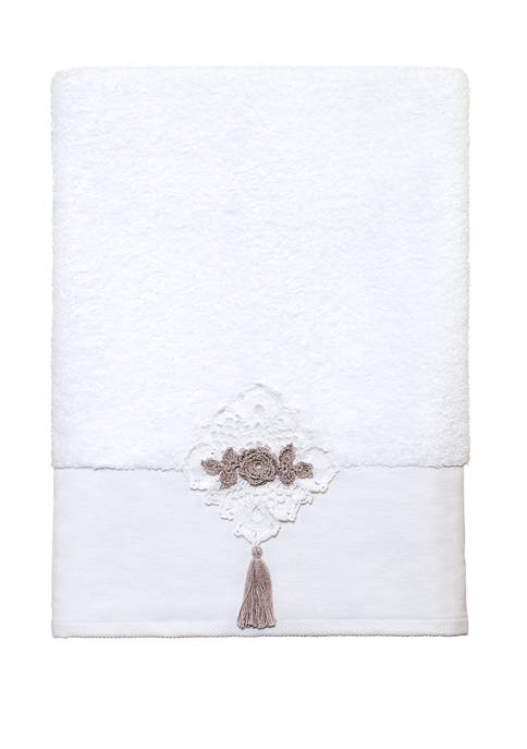 Avanti Crochet Diamond Lace Bath Towel