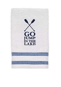 Lake Words Finger Tip Towel