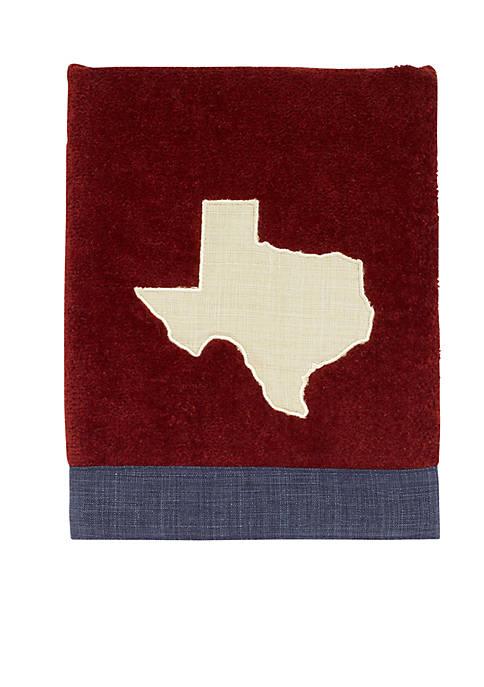 Texas Star Map Hand Towel