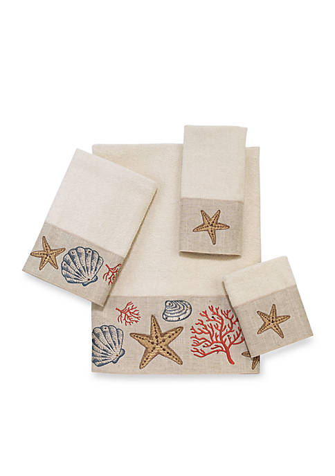 Avanti Sea Treasure Ivory Hand Towel 16-in. x
