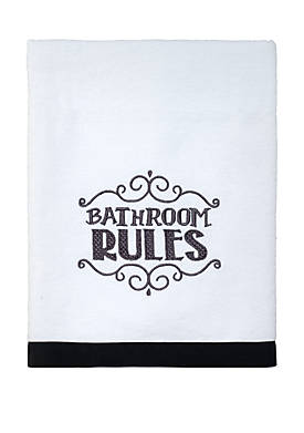Chalk it Up White Bath Towel