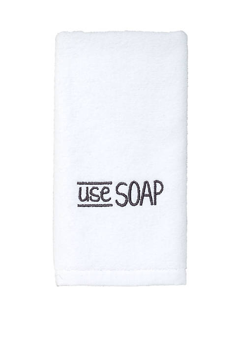 Avanti Chalk it Up White Fingertip Towel