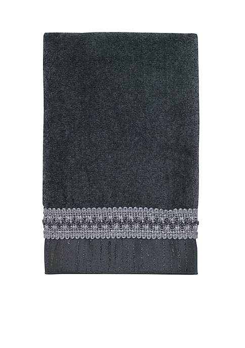 Avanti Braided Cuff Granite Hand Towel