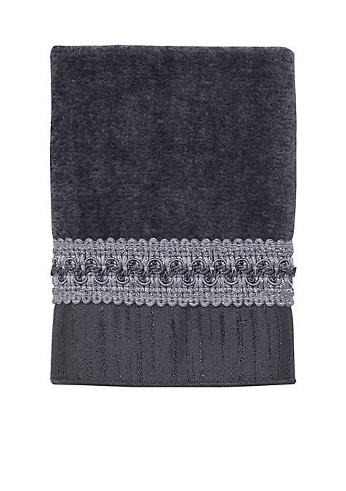 Avanti Braided Cuff Granite Washcloth