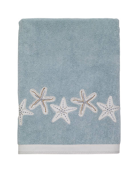Avanti Sequin Shells Bath Towel 27-in. X 50-in.